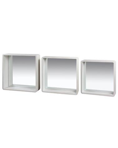 Conjunt de 3 espills quadrats Blancs