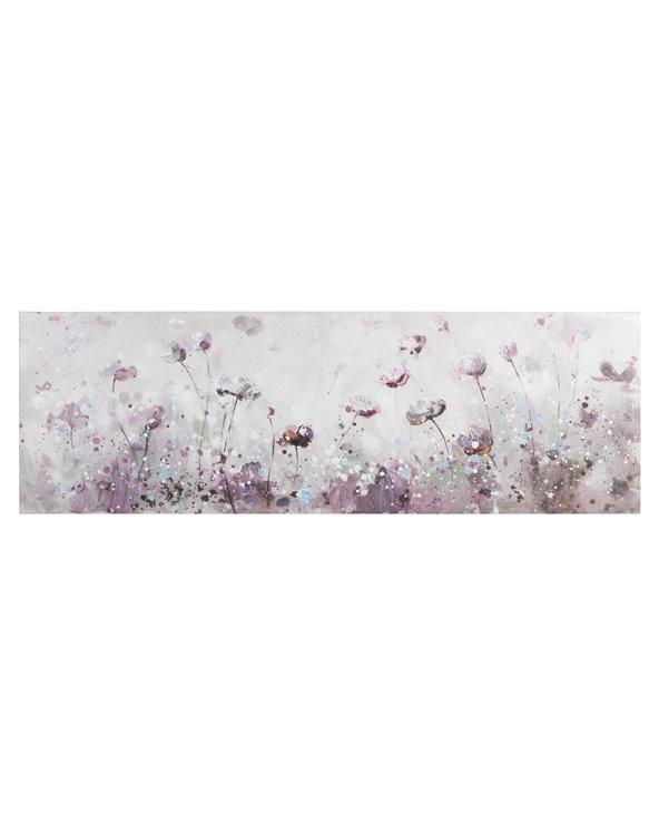 Cuadro flores panorámico