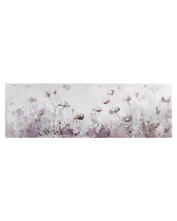 Peinture panoramique de fleurs