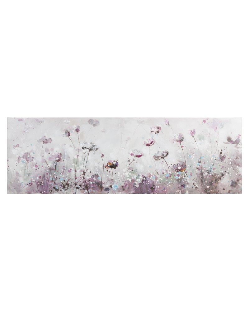 Panoramic flowers painting