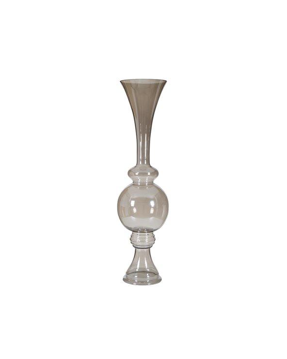 Vase en verre argent
