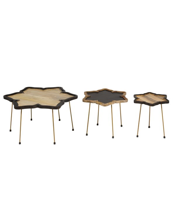 Set of 3 side tables Flor