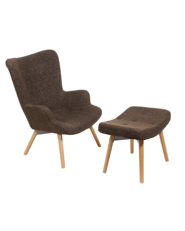Cadeira con repousapés