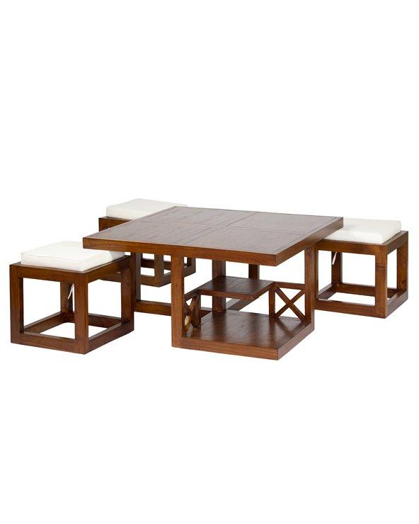 H-009 coffee table 3 stool