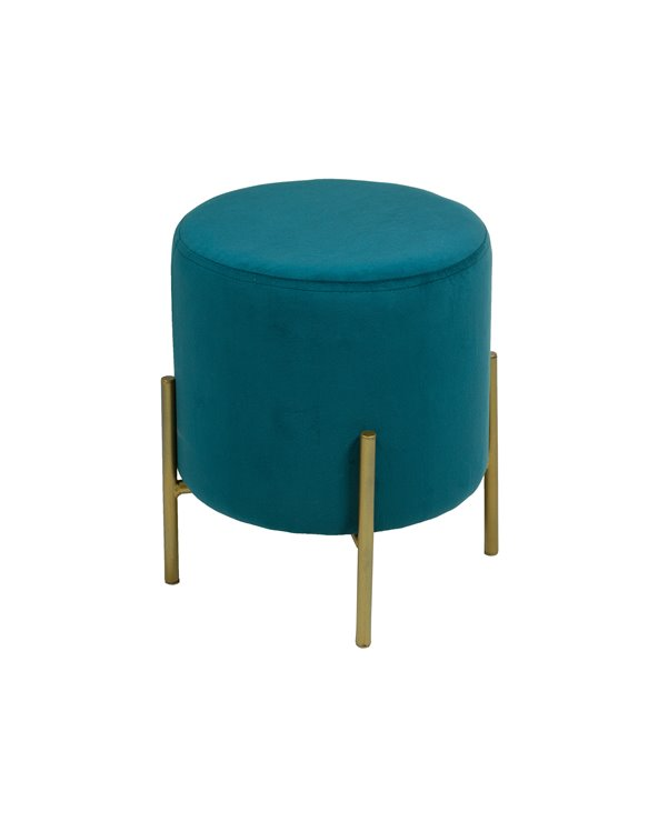 Gold and blue round stool