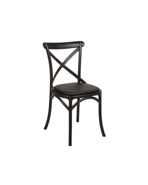 Chaise noire lames