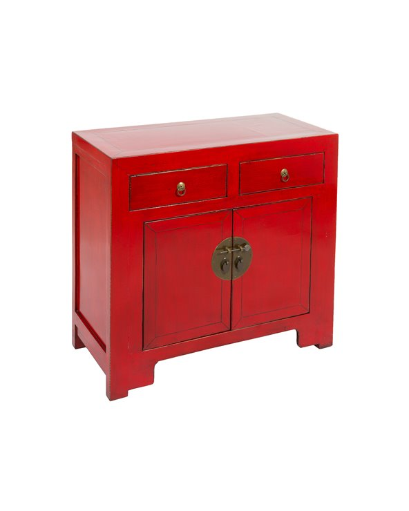 Red Console table 2 doors and 2 drawers