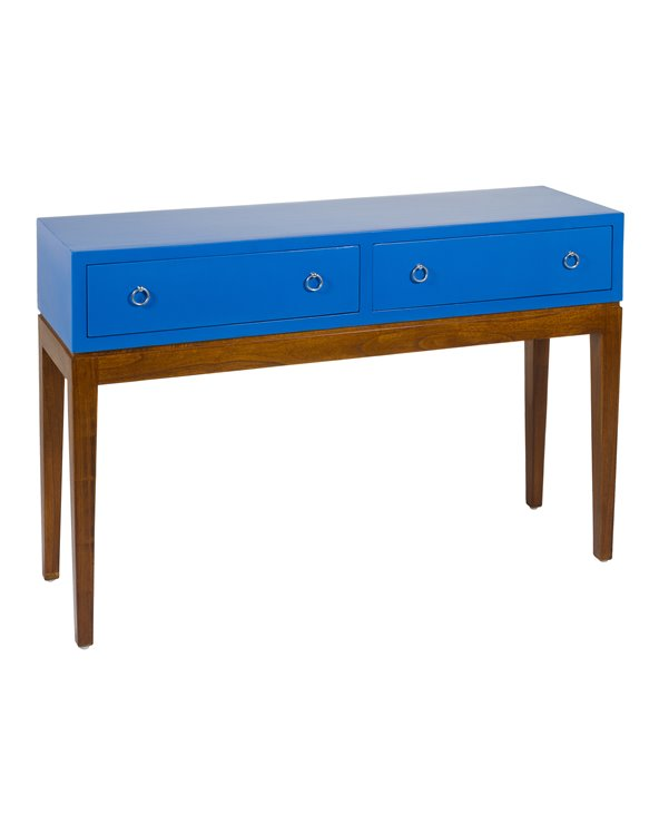 Table console style colonial avec 2 tiroirs
