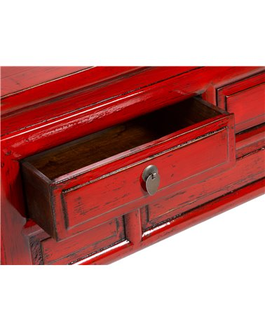 Red oriental console