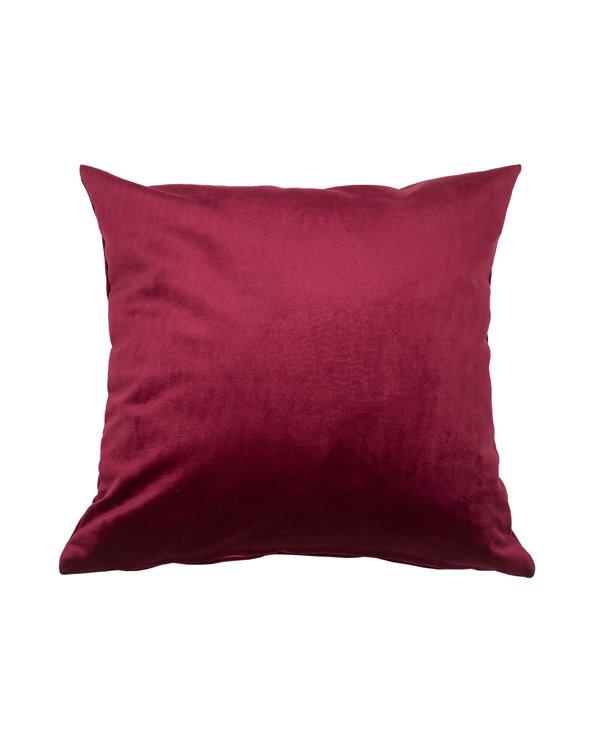 Cojín Velvet burdeos 45x45 cm