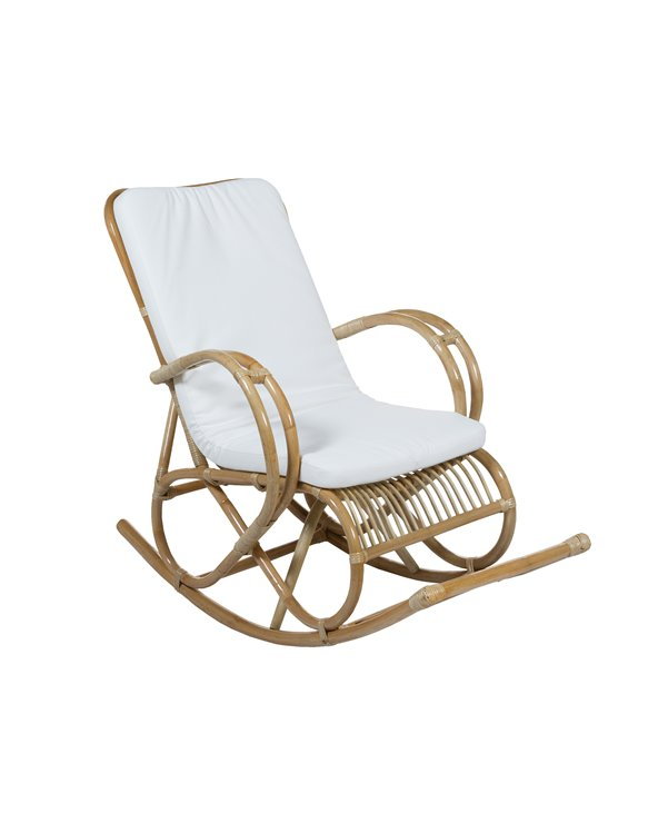 Bamboo / Rattan rocking chair with cushion