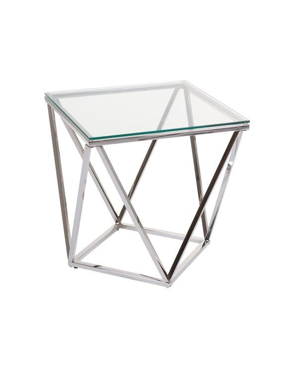 Mesa auxiliar con cristal Pris