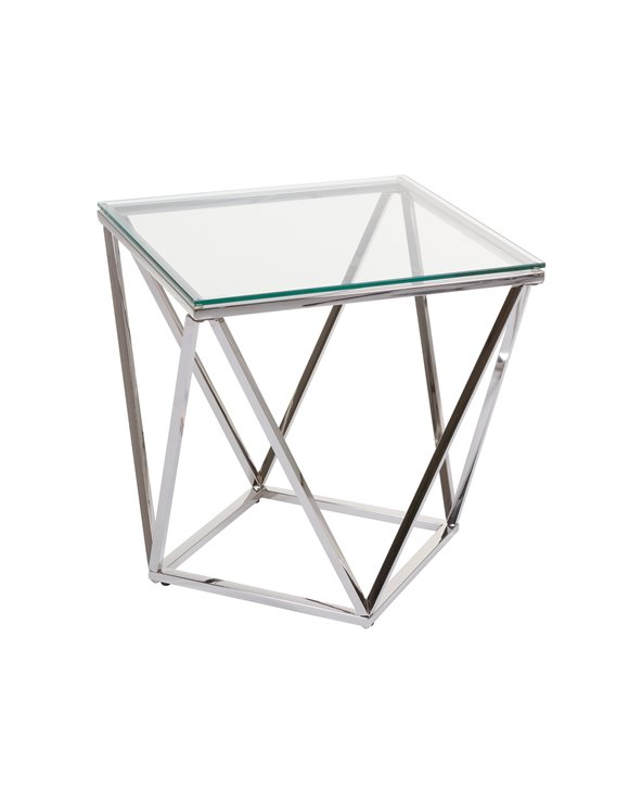 Pris Side table with glass