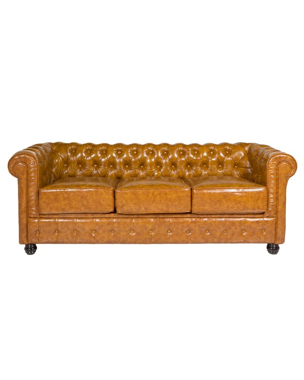 Chester brown 3 seater sofa