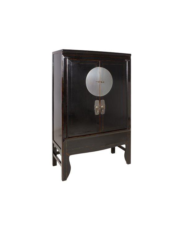 Schrank mit 2 Türen schwarz