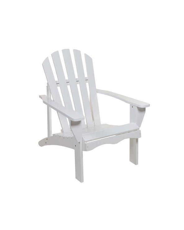 Cadeira de brazos branca de xardín
