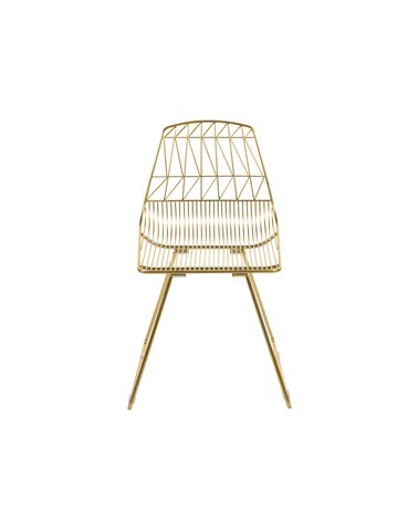 Metal chair with white seat