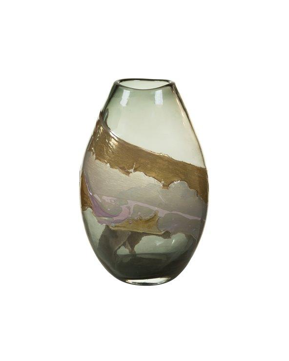 Vaso di cristallo decorato