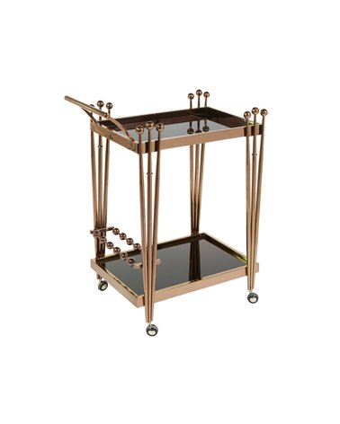 Cart - Waitress trolley with wheels pink