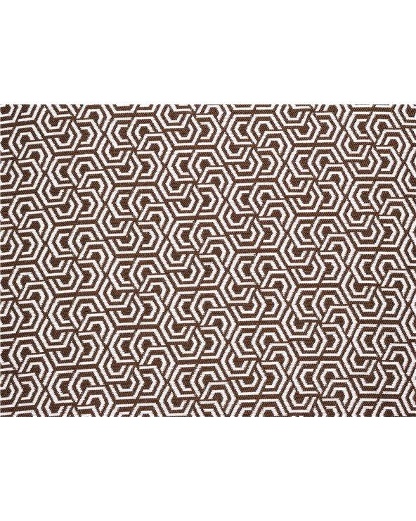 Cojín Estela chocolate 45x45 cm