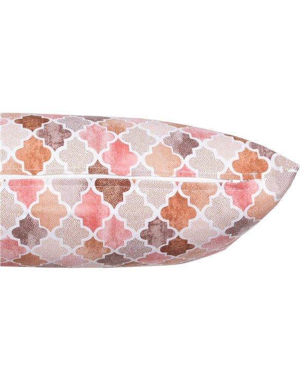 Cojín Notre Damme salmón 30x50 cm