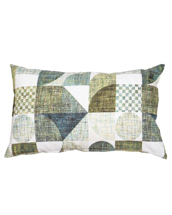 Turquoise Damero cushion 30x50 cm