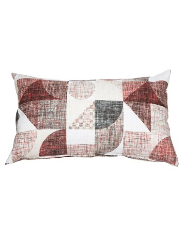 Red Damero cushion 30x50 cm