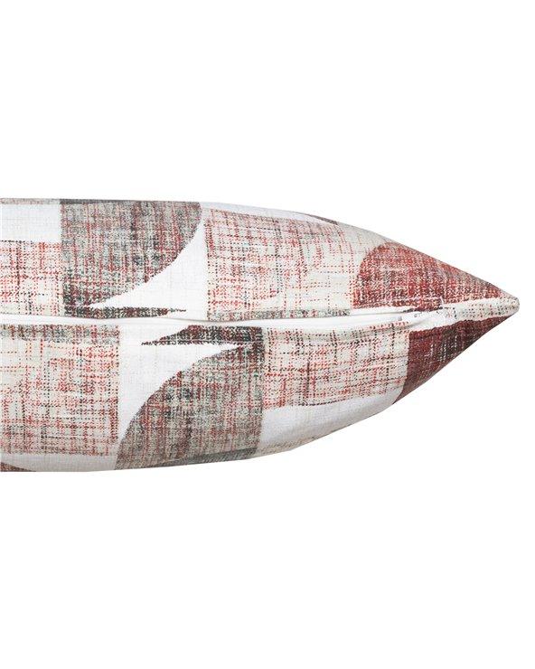Coixí Damero roig 30x50 cm