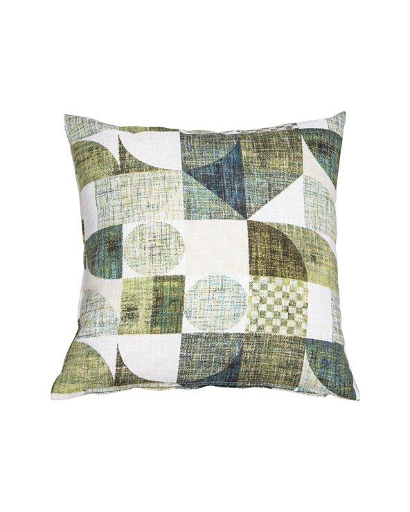 Turquoise Damero cushion 45x45 cm