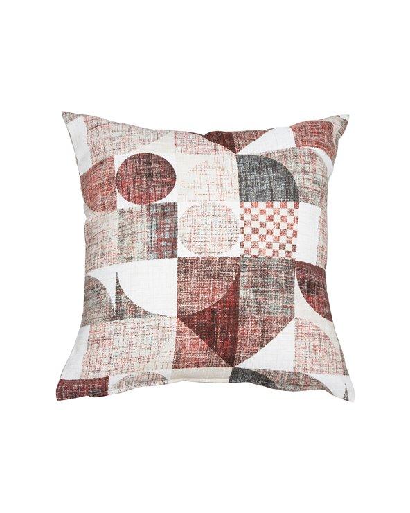 Coussin Damero rouge 45x45 cm