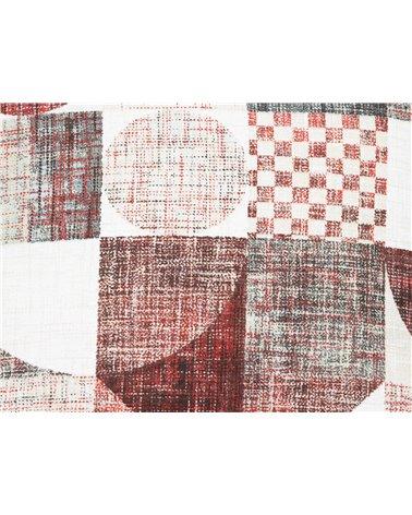Red Damero cushion 45x45 cm