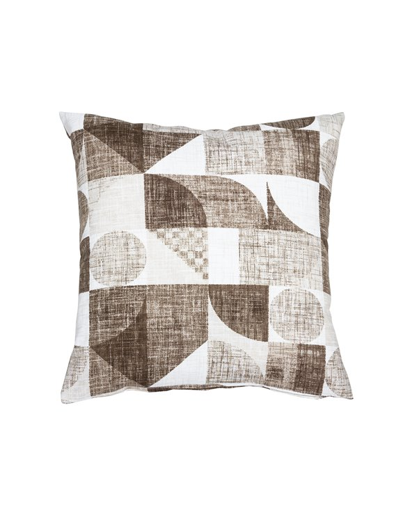 Brown Damero cushion 45x45 cm