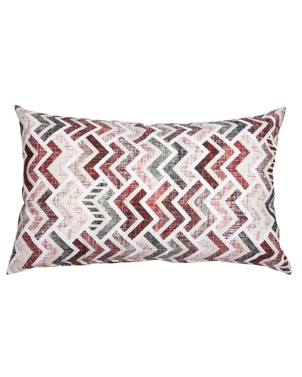 Red coordinated Damero cushion 30x50 cm