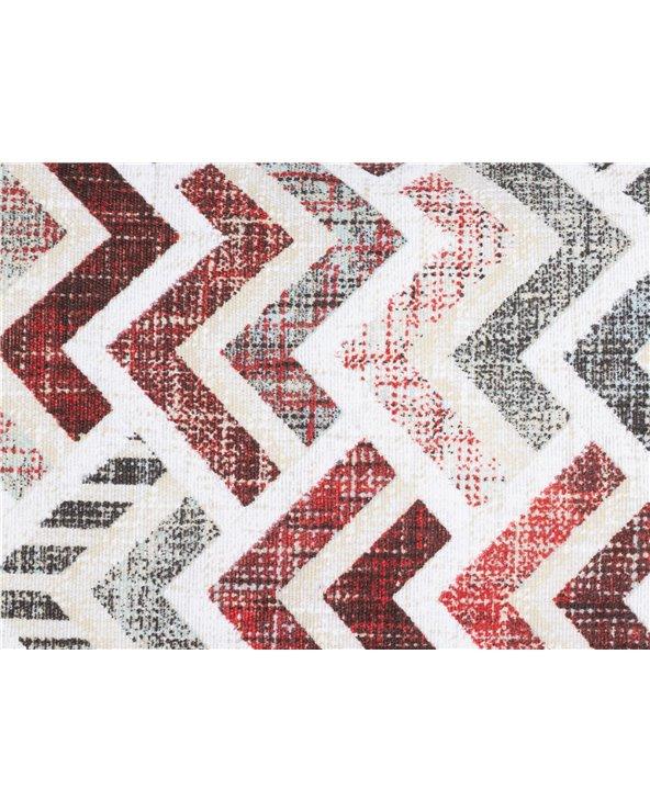 Coxín Damero coordinado Vermello 30x50 cm