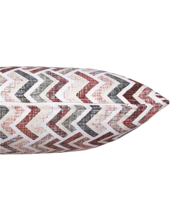Red coordinated Damero cushion 30x50 cm