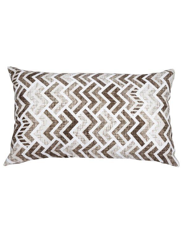 Brown Coordinated Damero Cushion 30x50 cm