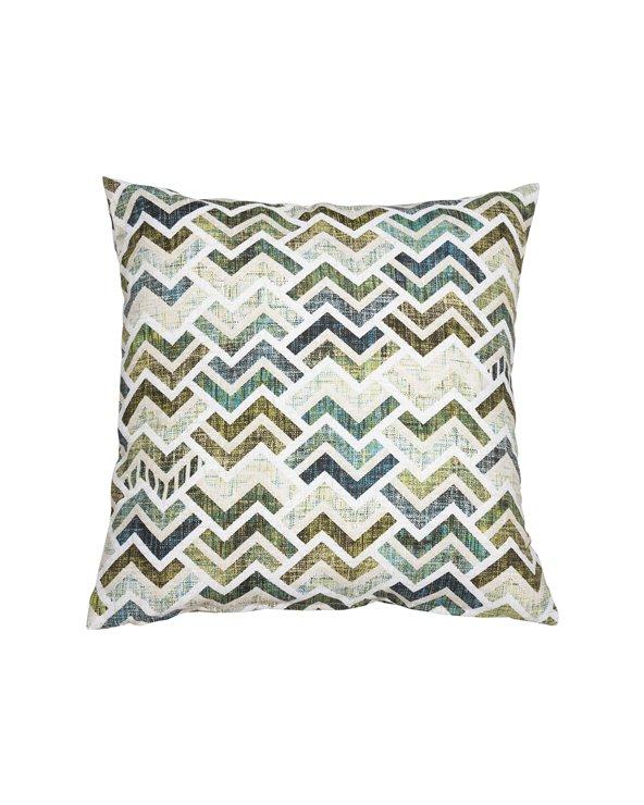 Turquoise Coordinated Damero Cushion 45x45 cm