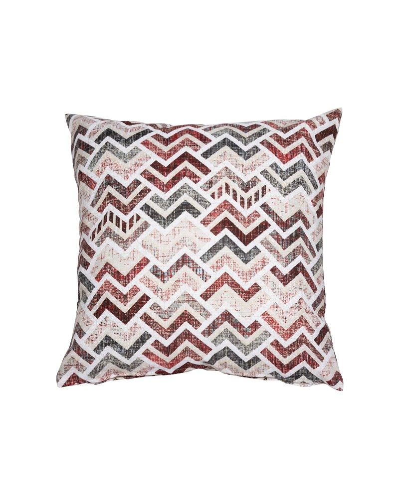 Red coordinated Damero cushion 45x45 cm