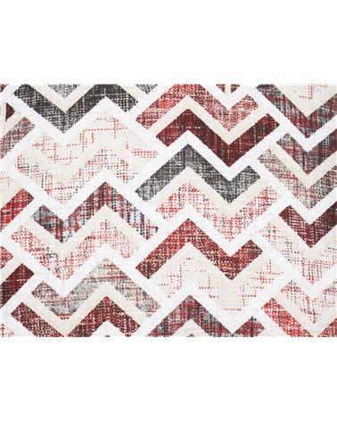 Coxín Damero coordinado Vermello 45x45 cm