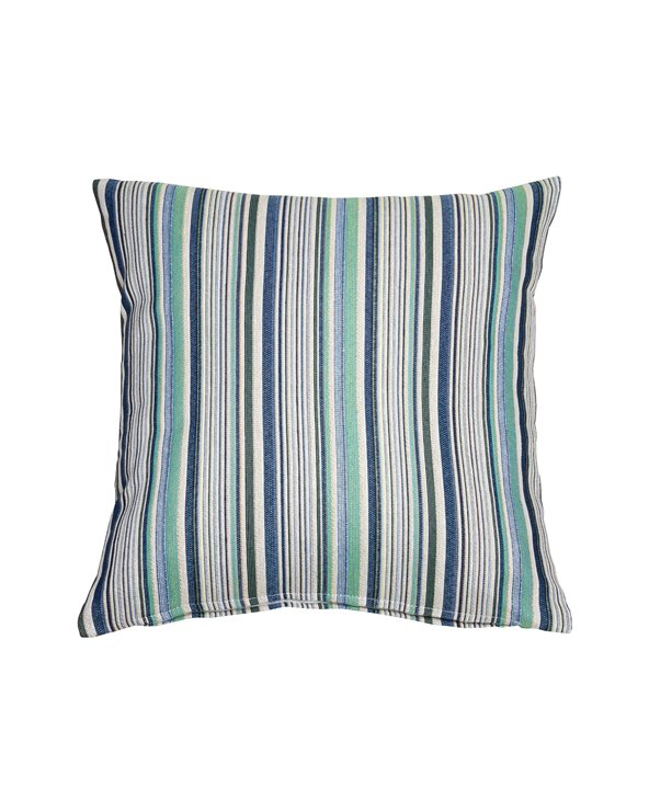 Swiss cushion blue stripe 45x45 cm