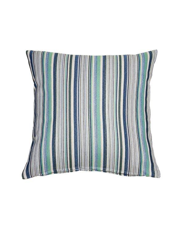 Swiss cushion blue stripe 45x45 cm