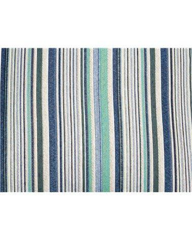 Cojín Suiza raya azul 45x45 cm