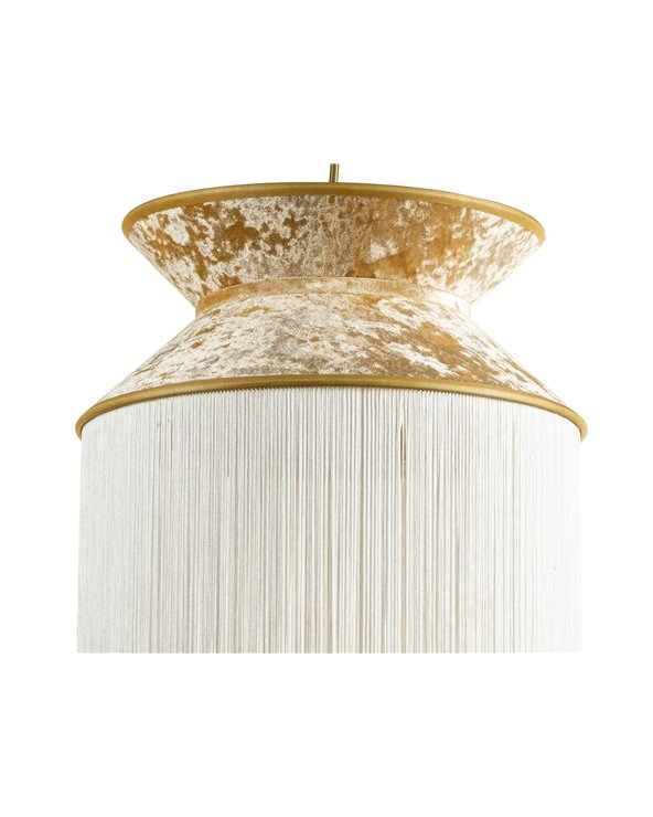 White Cancán ceiling lamp 30x30 cm
