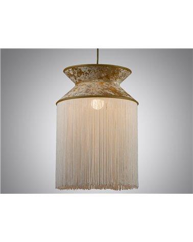 Llum de sostre Cancan blanca 30x30 cm