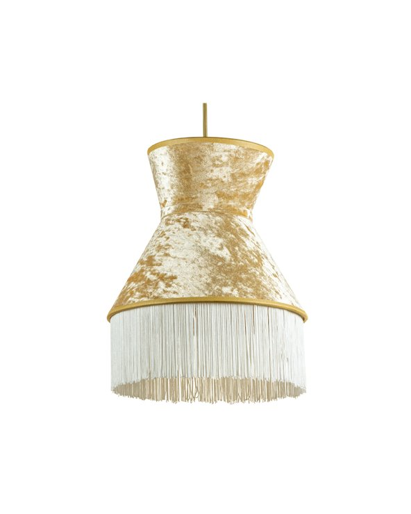 White Cancán ceiling lamp 25x25 cm
