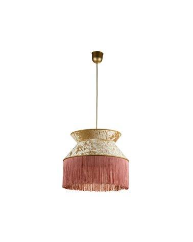 Llum de sostre Cancan rosa 45x45 cm