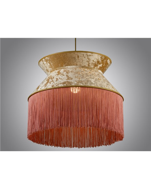 Lámpada de teito Cancán rosa 45x45 cm
