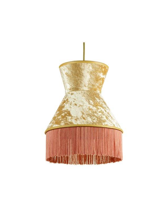 Llum de sostre Cancan rosa 25x25 cm