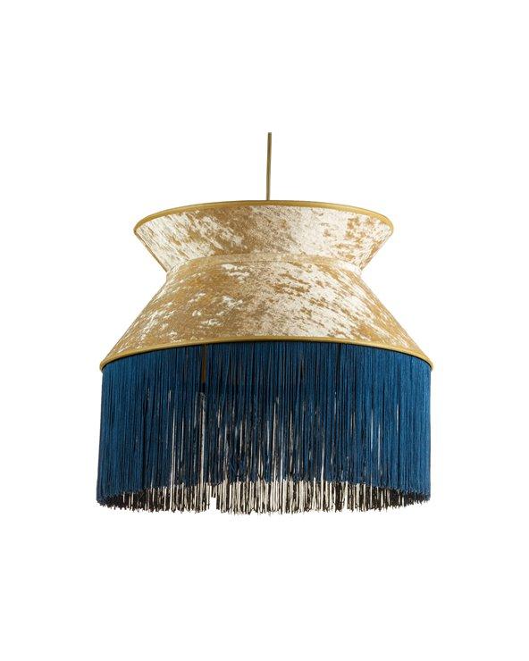 Llum de sostre Cancan blau 45x45 cm
