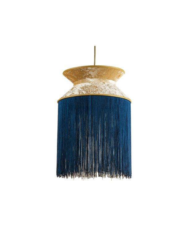 Lámpada de teito Cancán azul 30x30 cm
